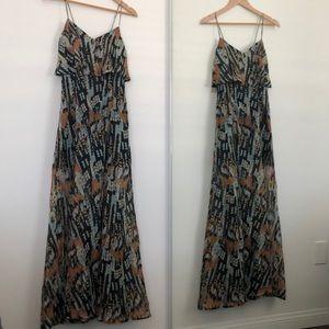 RVCA Artsy Print Maxi Dress
